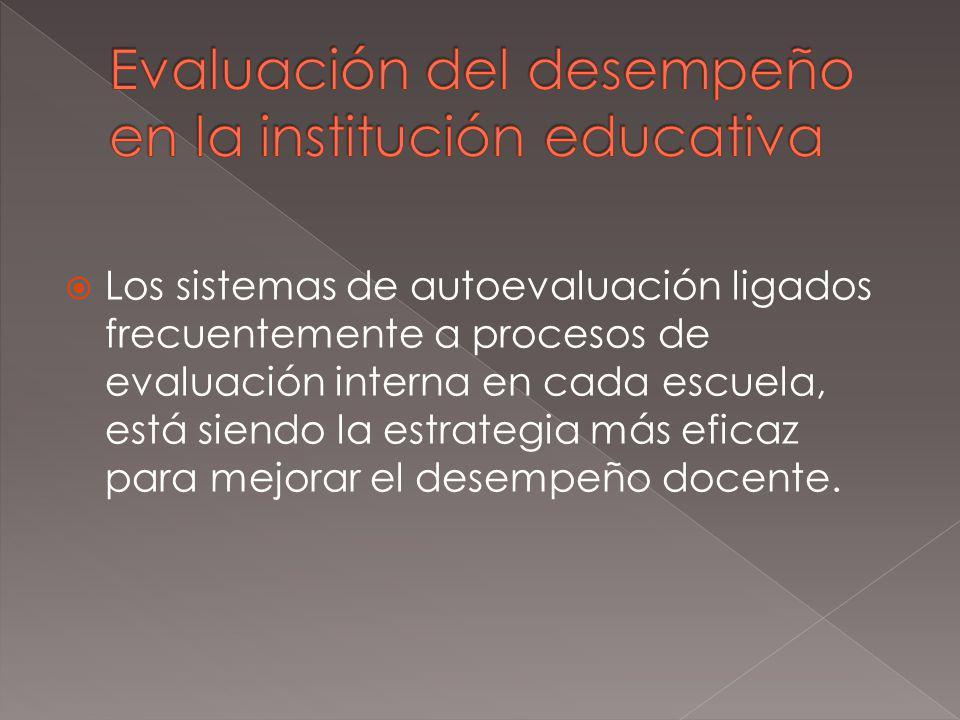 Evaluación del desempeño en la institución educativa
