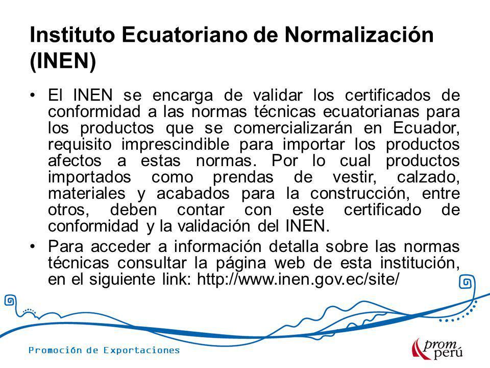 Instituto Ecuatoriano de Normalización (INEN)