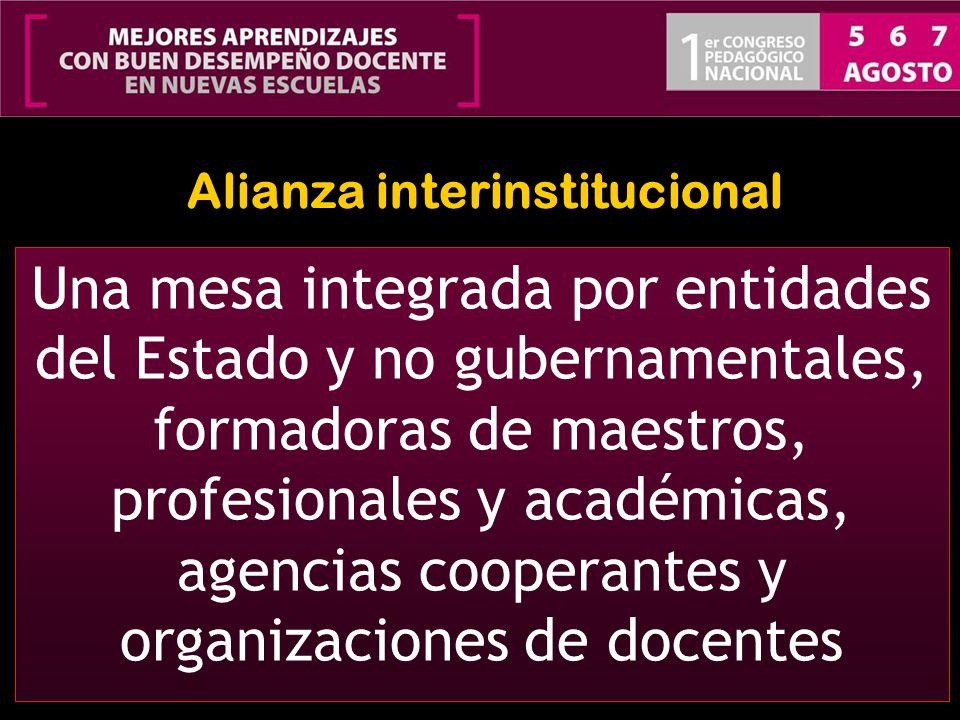 Alianza interinstitucional