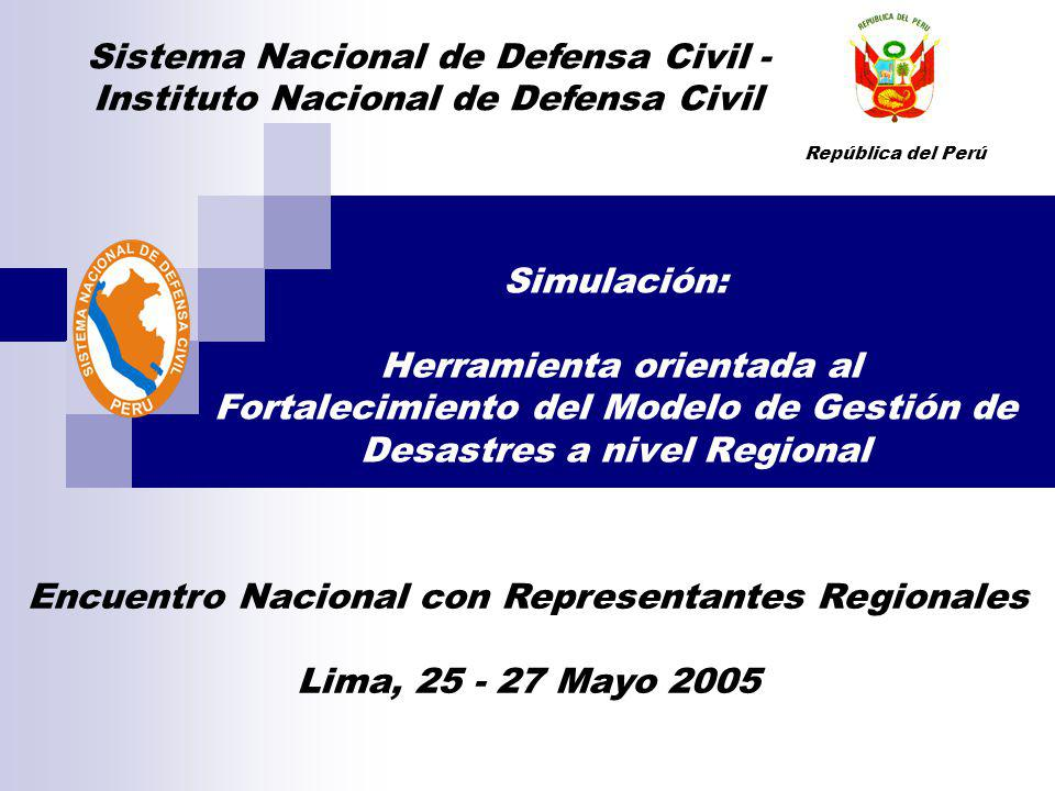 Sistema Nacional de Defensa Civil -