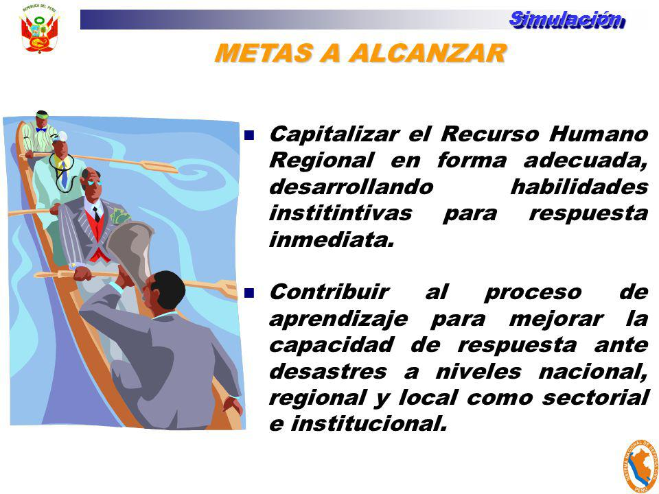 Simulación METAS A ALCANZAR.