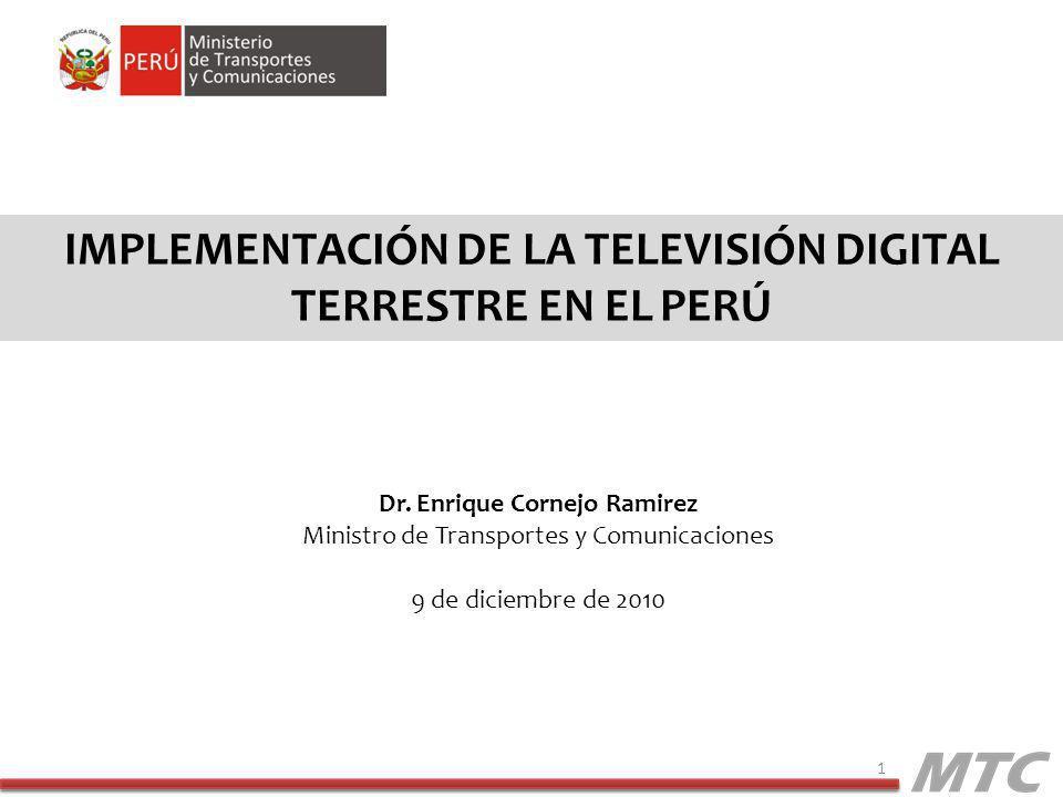 Implementación DE LA televisión digital terrestre EN EL PERÚ