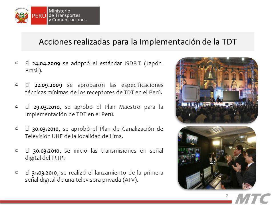 Acciones realizadas para la Implementación de la TDT