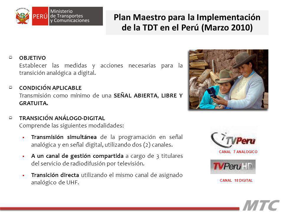 Plan Maestro para la Implementación de la TDT en el Perú (Marzo 2010)