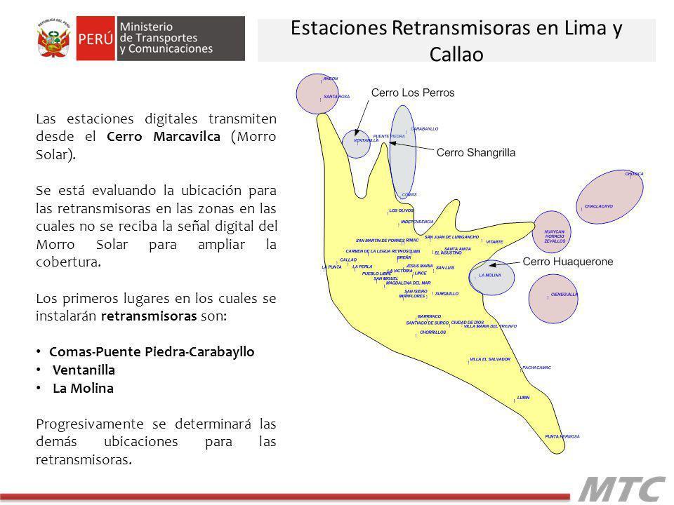 Estaciones Retransmisoras en Lima y Callao