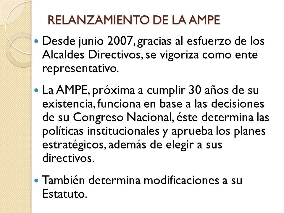 RELANZAMIENTO DE LA AMPE