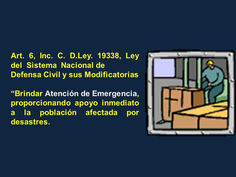 Art. 6, Inc. C. D.Ley. 19338, Ley del Sistema Nacional de
