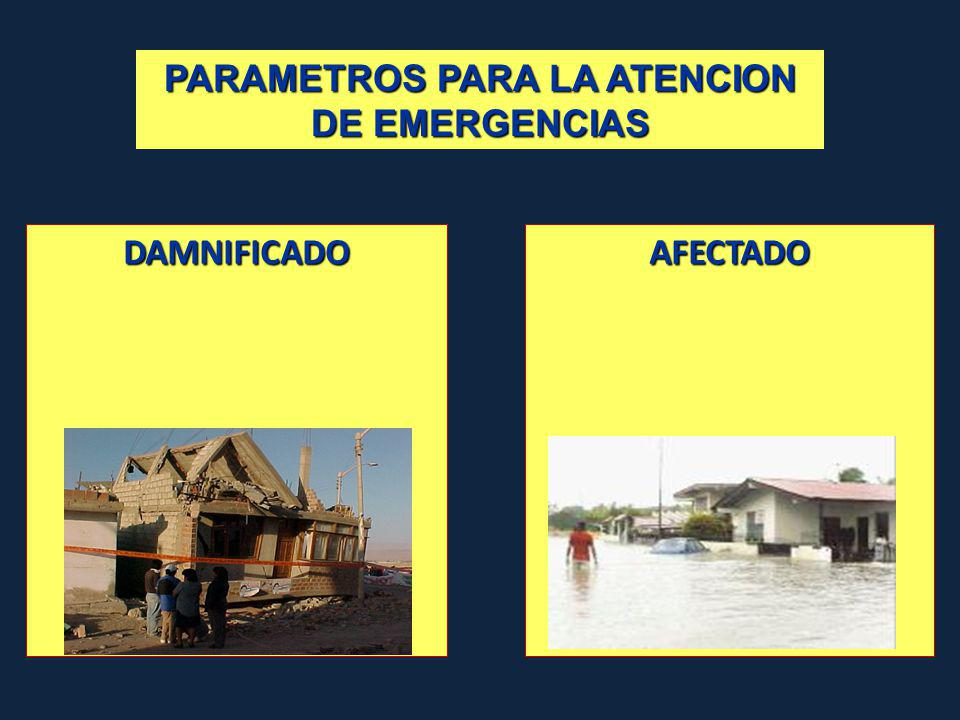 PARAMETROS PARA LA ATENCION DE EMERGENCIAS