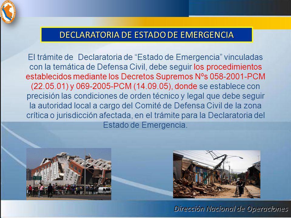 DECLARATORIA DE ESTADO DE EMERGENCIA