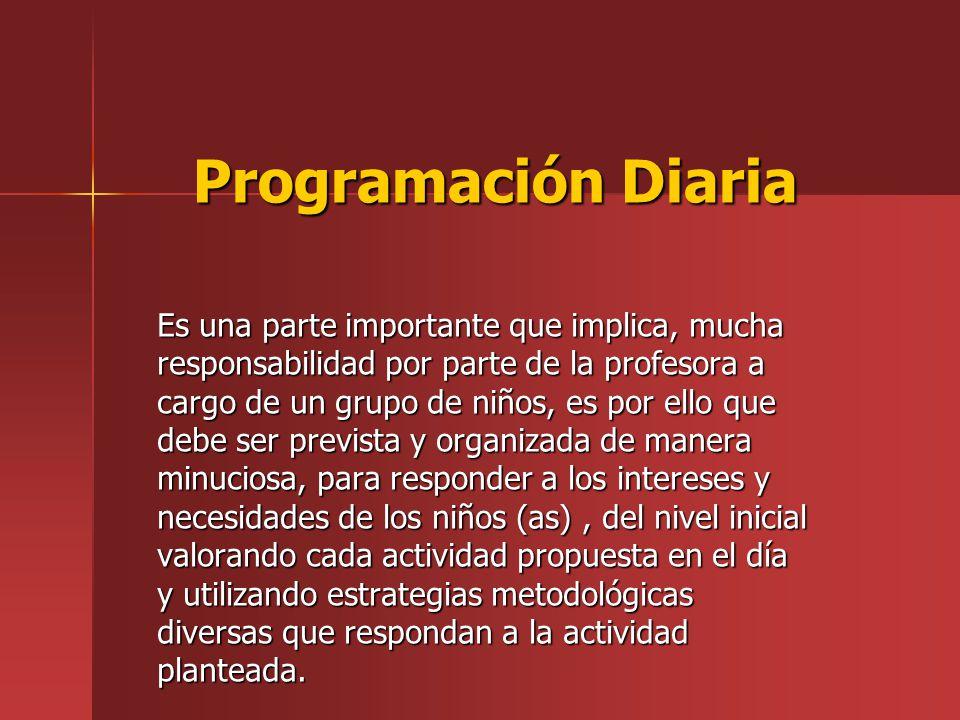 Programación Diaria