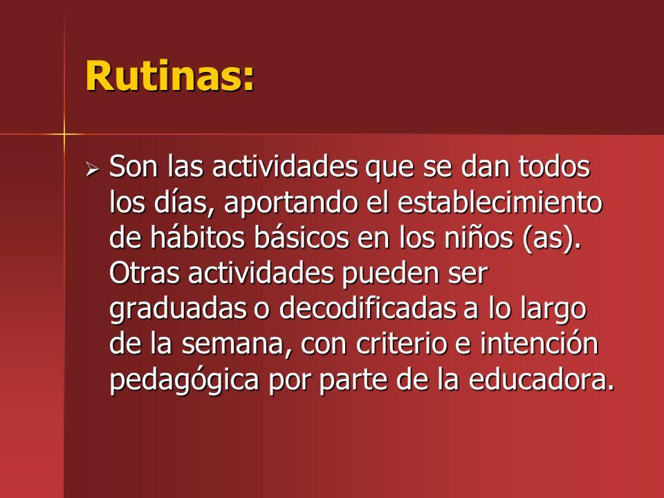 Rutinas: