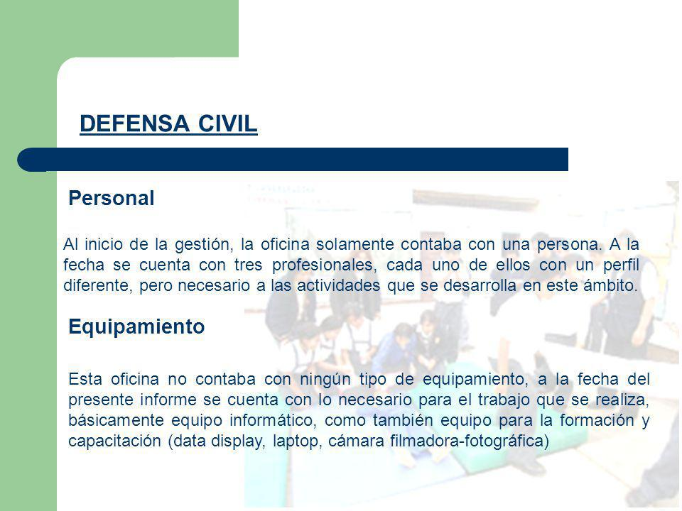 DEFENSA CIVIL Personal Equipamiento