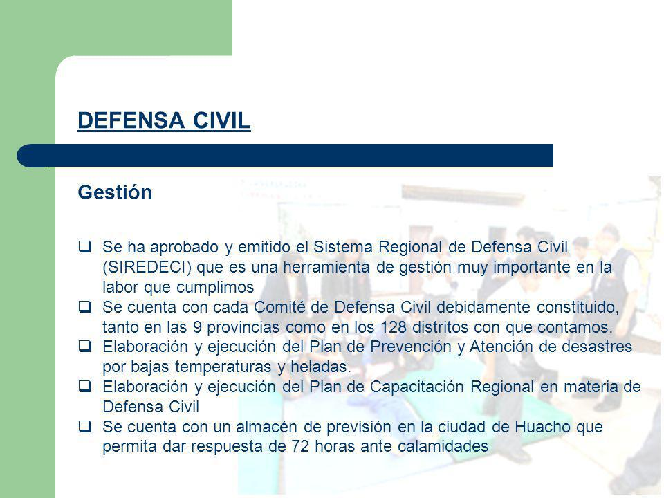 DEFENSA CIVIL Gestión.