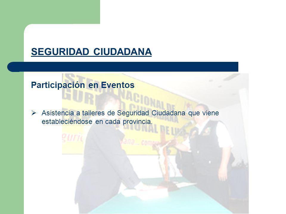 SEGURIDAD CIUDADANA Participación en Eventos