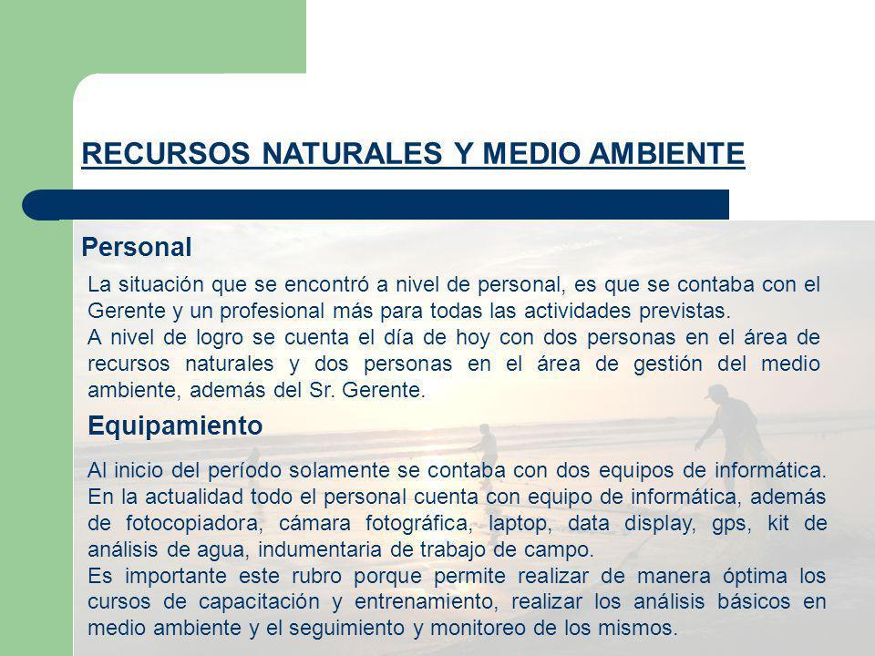RECURSOS NATURALES Y MEDIO AMBIENTE