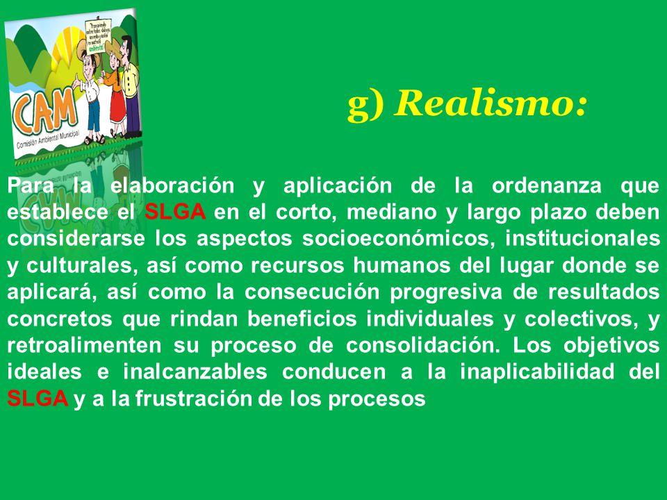 g) Realismo: