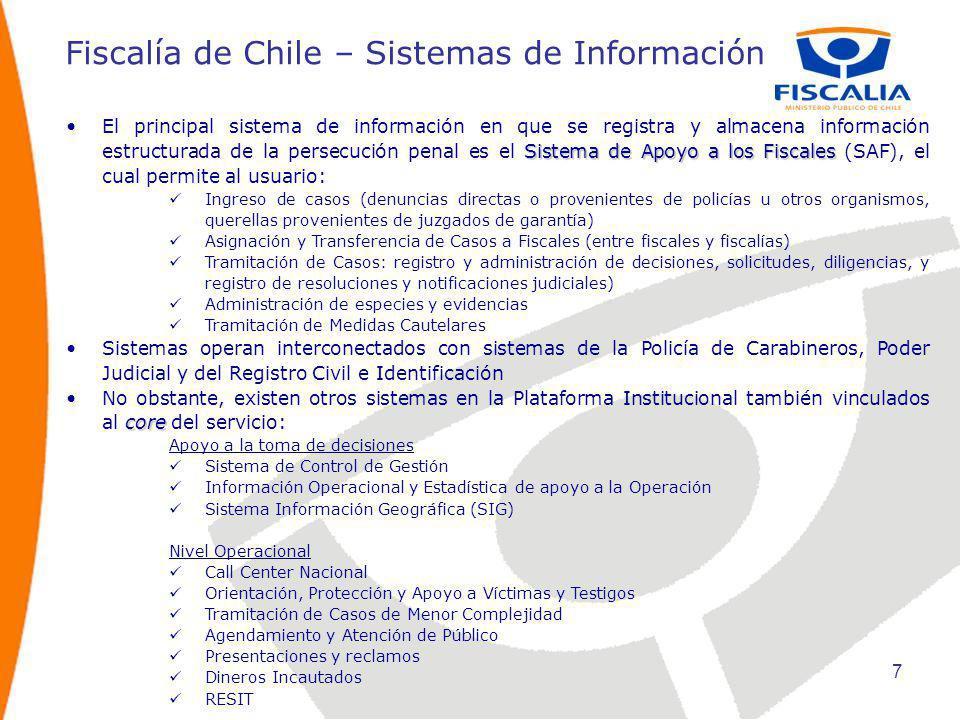 Fiscalía de Chile – Sistemas de Información