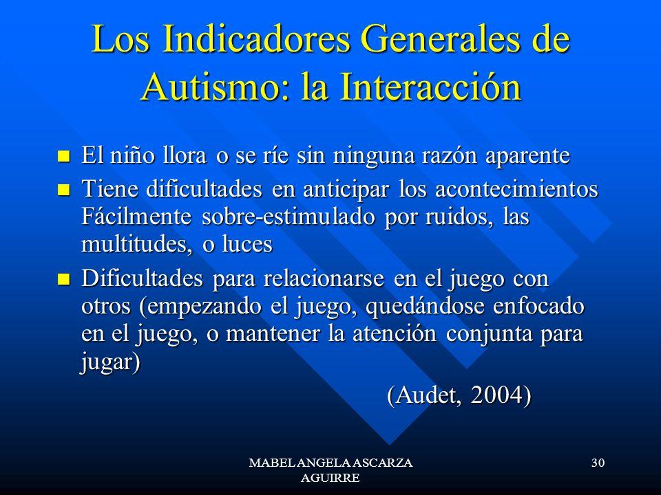 Los Indicadores Generales de Autismo: la Interacción