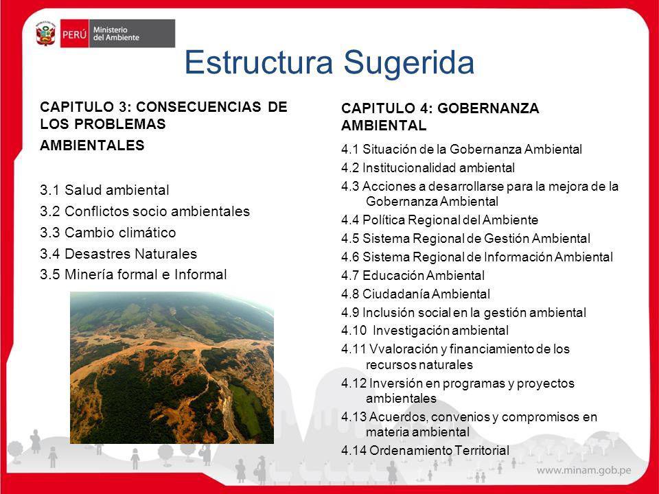 Estructura Sugerida CAPITULO 4: GOBERNANZA AMBIENTAL