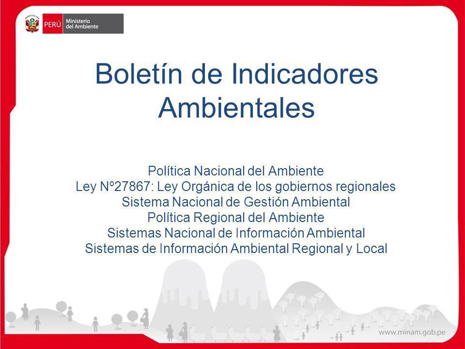 Boletín de Indicadores Ambientales