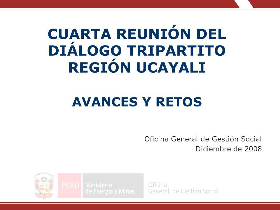 CUARTA REUNIÓN DEL DIÁLOGO TRIPARTITO REGIÓN UCAYALI AVANCES Y RETOS