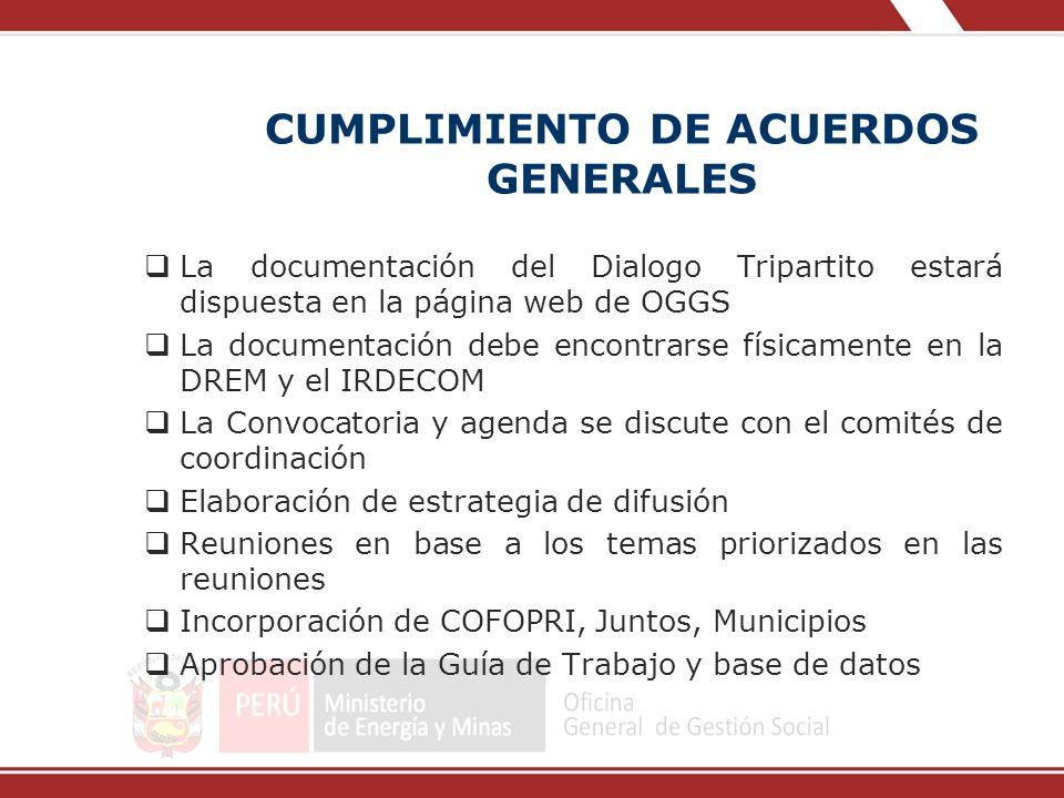 CUMPLIMIENTO DE ACUERDOS GENERALES