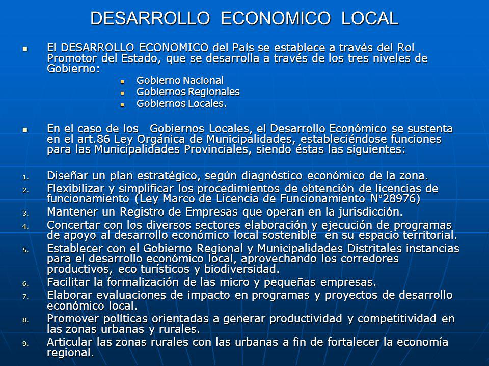 DESARROLLO ECONOMICO LOCAL