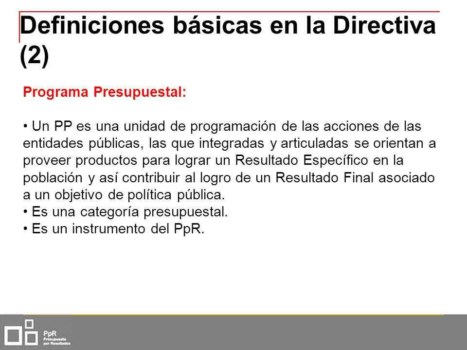 Definiciones básicas en la Directiva (2)