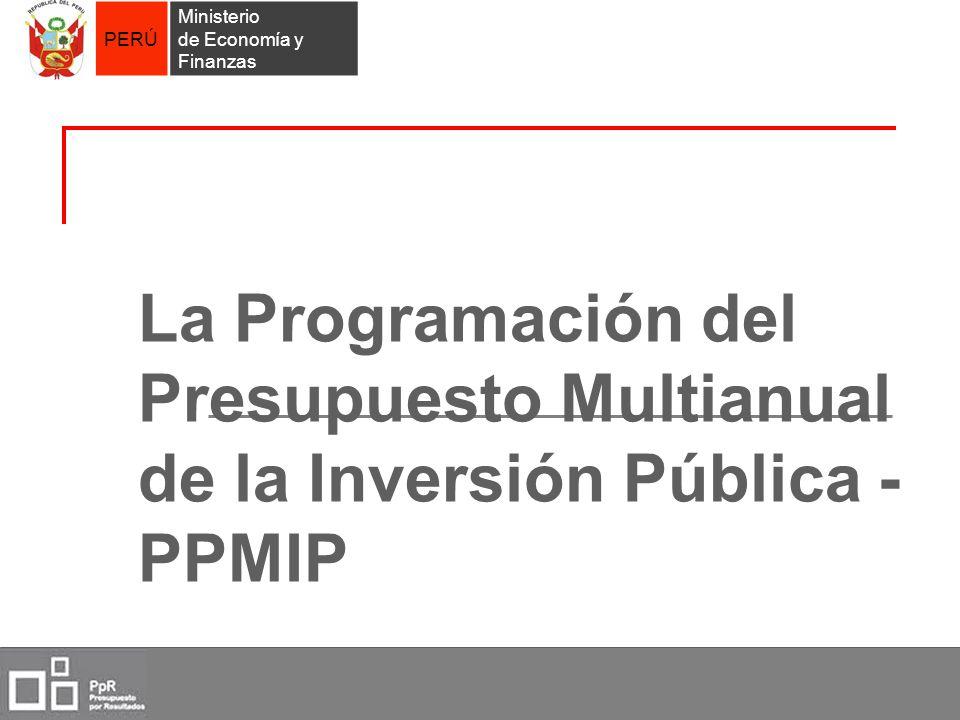 La Programación del Presupuesto Multianual de la Inversión Pública - PPMIP