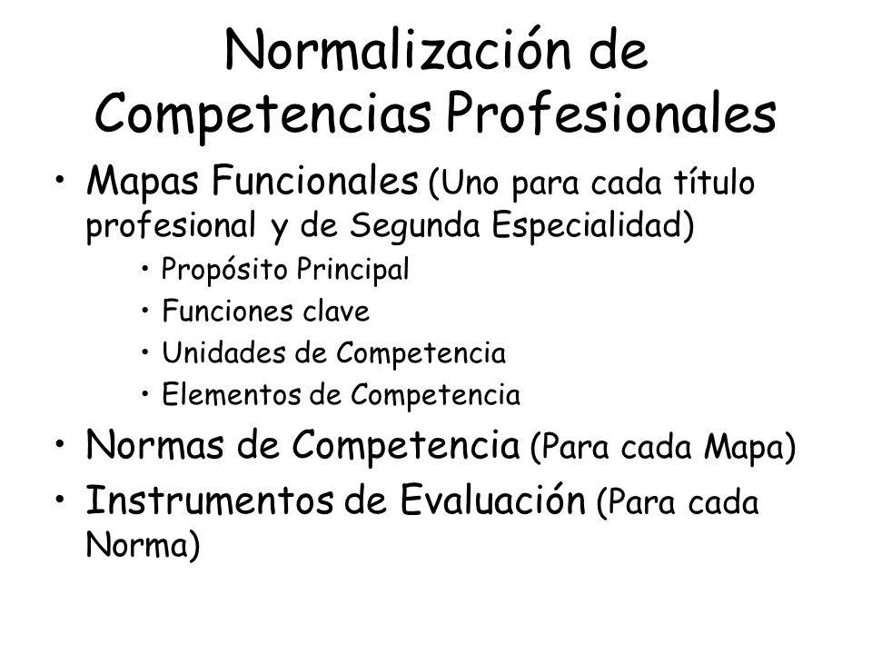 Normalización de Competencias Profesionales