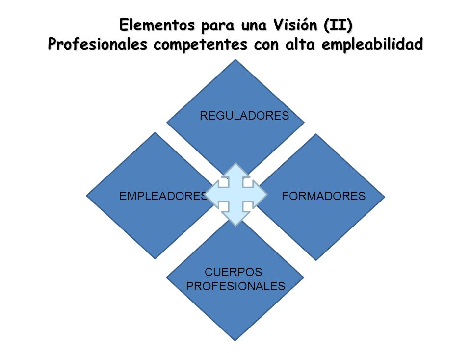 Elementos para una Visión (II) Profesionales competentes con alta empleabilidad