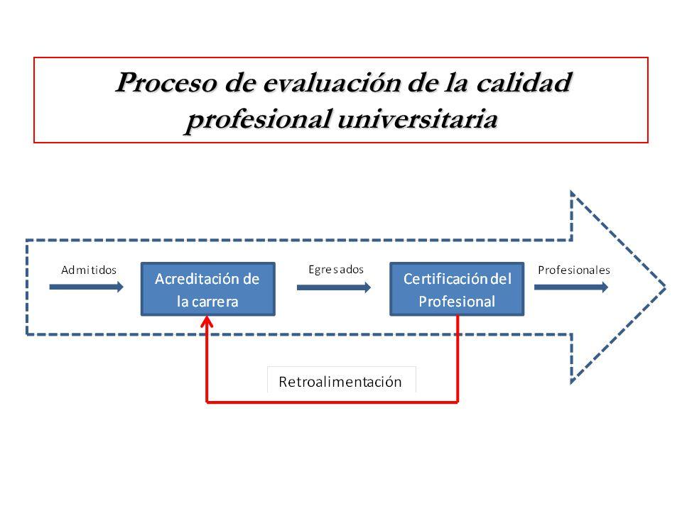 Proceso de evaluación de la calidad profesional universitaria