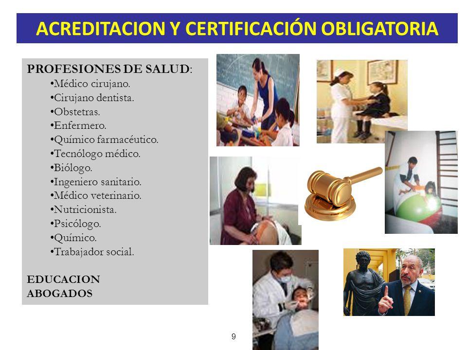 ACREDITACION Y CERTIFICACIÓN OBLIGATORIA