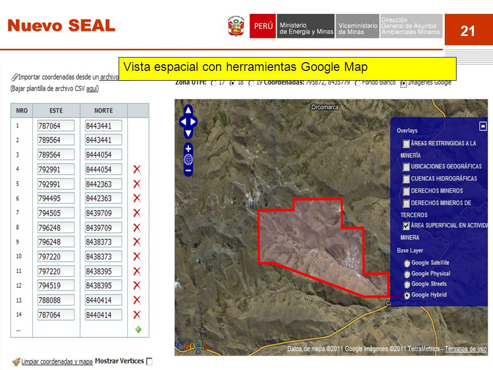 Nuevo SEAL Vista espacial con herramientas Google Map Event 21
