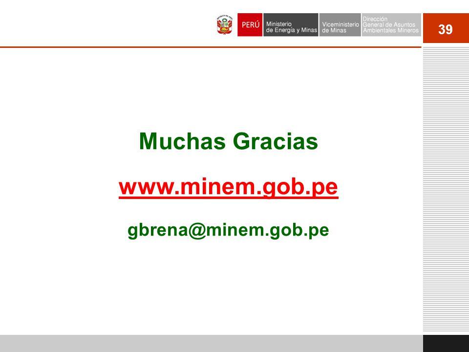 Muchas Gracias www.minem.gob.pe