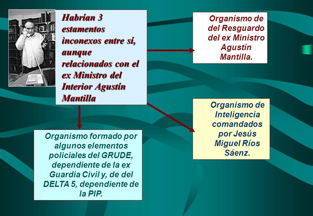 Habrían 3 estamentos inconexos entre sí, aunque relacionados con el ex Ministro del Interior Agustín Mantilla
