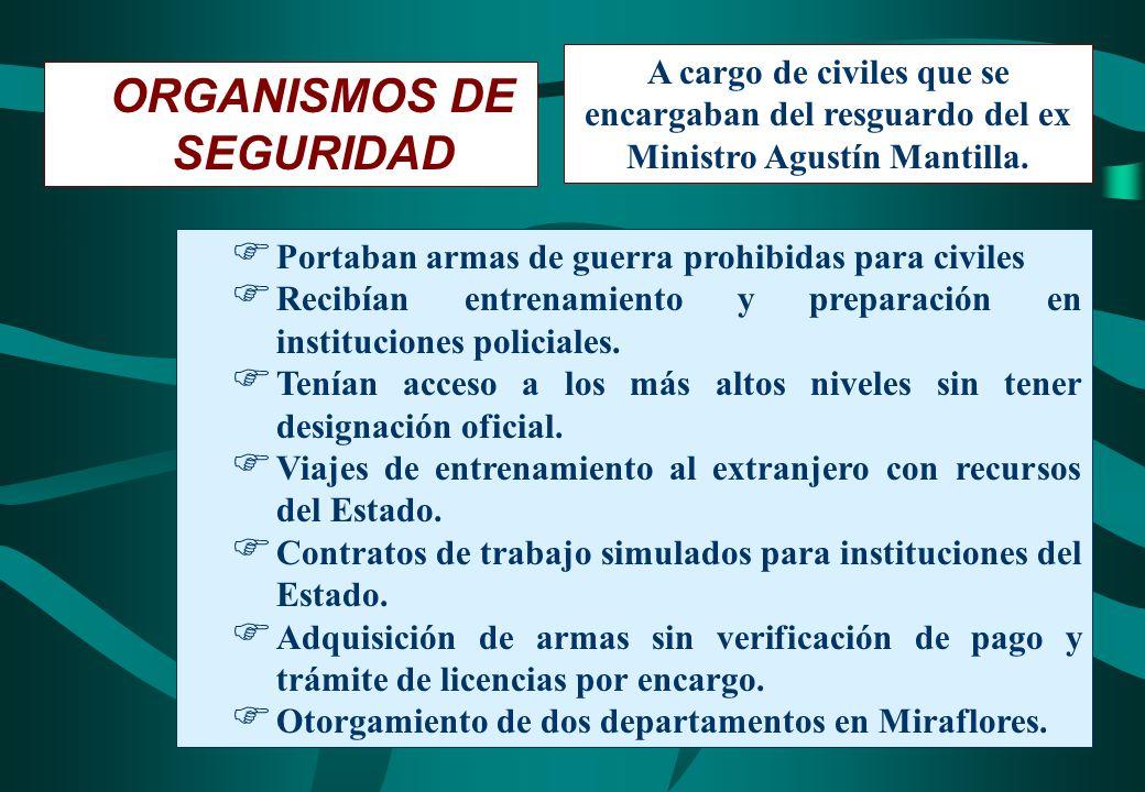 ORGANISMOS DE SEGURIDAD