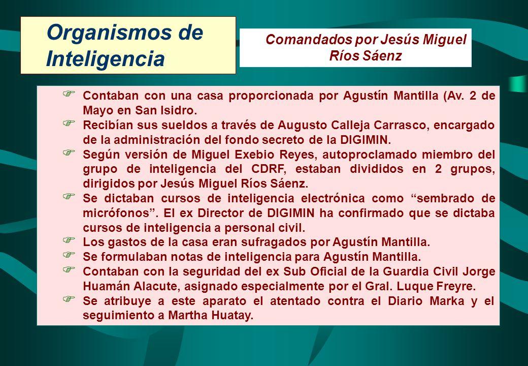 Comandados por Jesús Miguel Ríos Sáenz