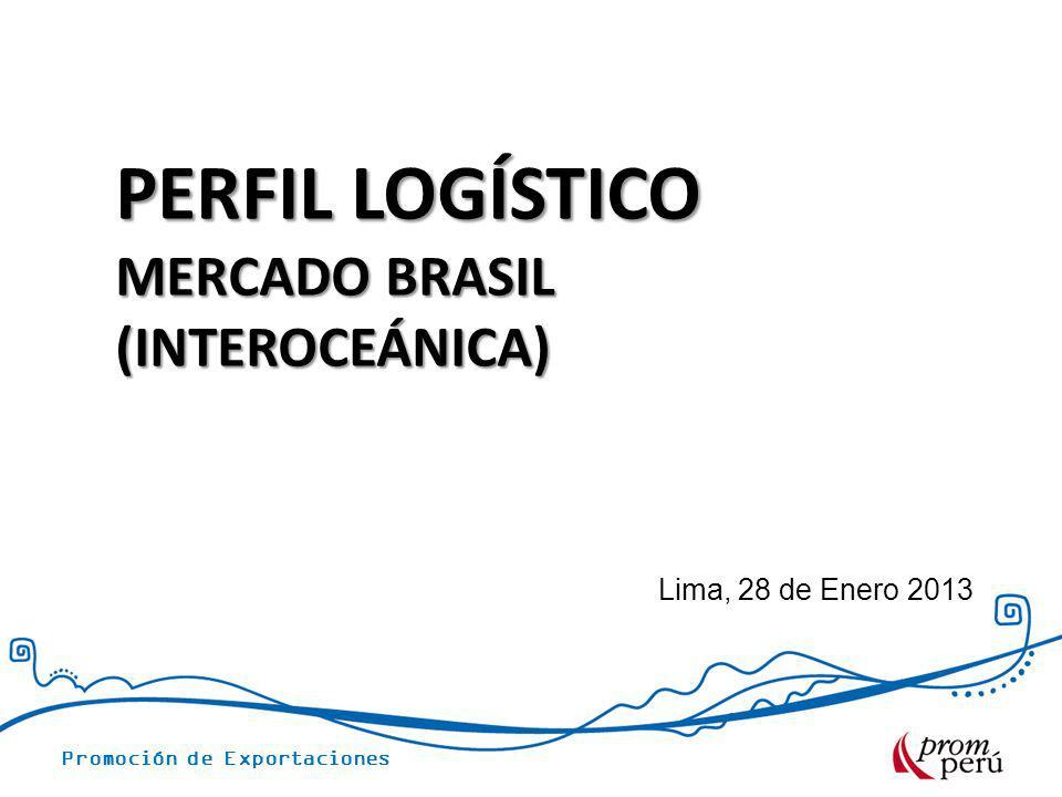 PERFIL LOGÍSTICO MERCADO BRASIL (INTEROCEÁNICA) Lima, 28 de Enero 2013