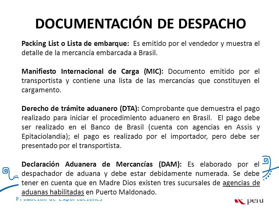 DOCUMENTACIÓN DE DESPACHO