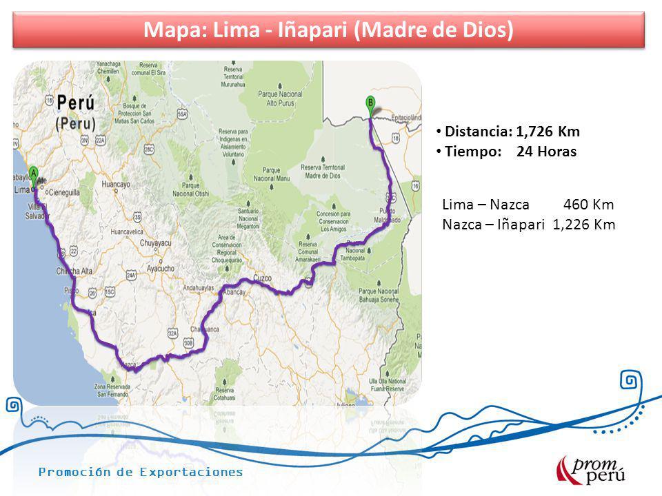 Mapa: Lima - Iñapari (Madre de Dios)