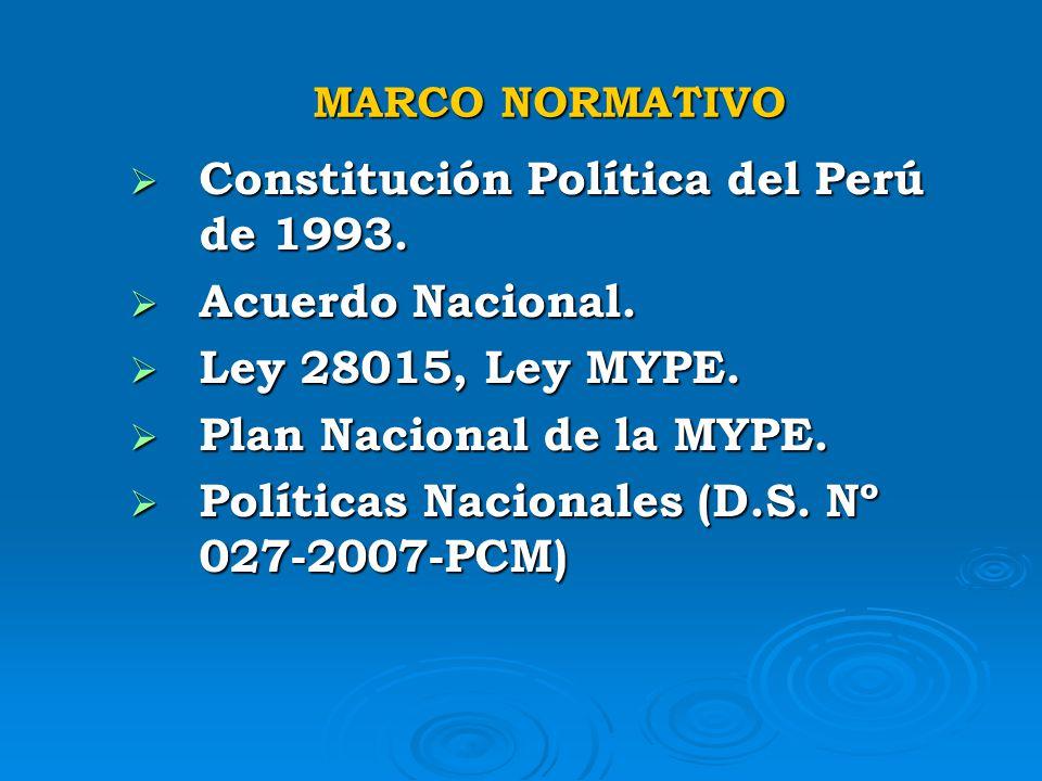 Constitución Política del Perú de 1993. Acuerdo Nacional.