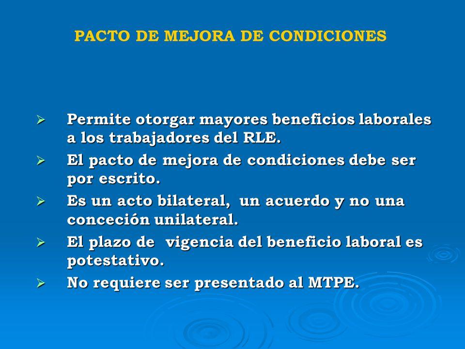PACTO DE MEJORA DE CONDICIONES
