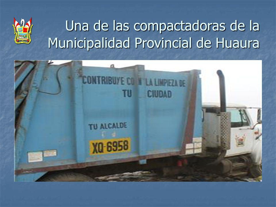 Una de las compactadoras de la Municipalidad Provincial de Huaura