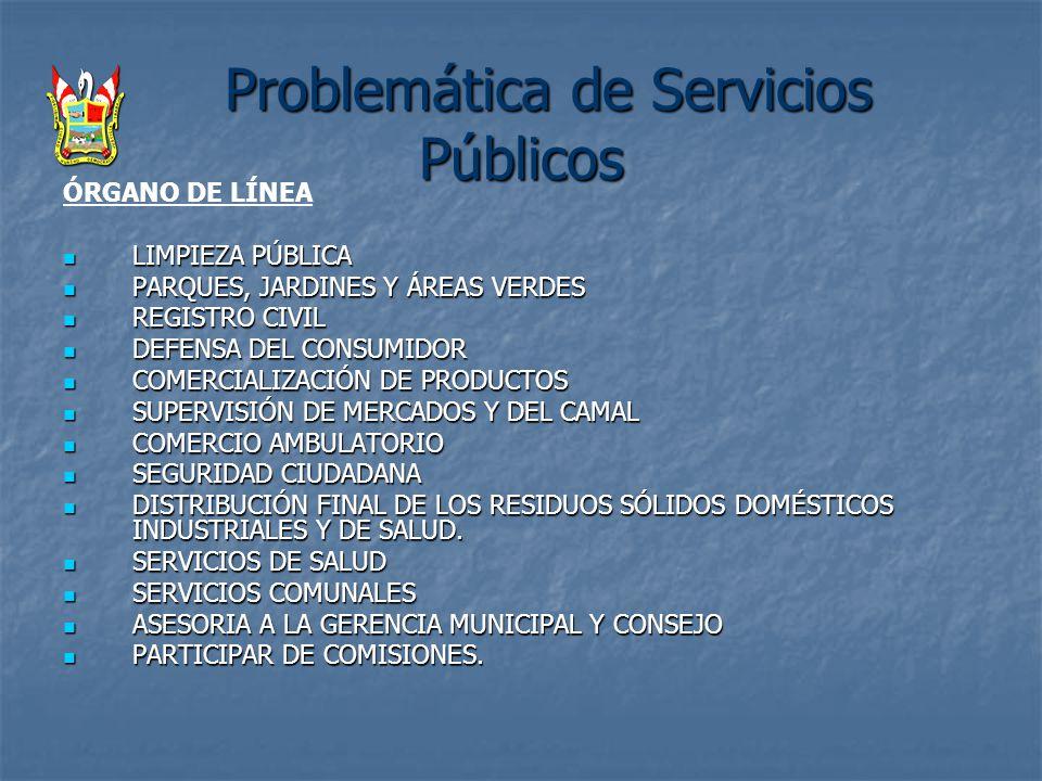 Problemática de Servicios Públicos