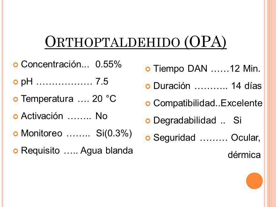 Orthoptaldehido (OPA)