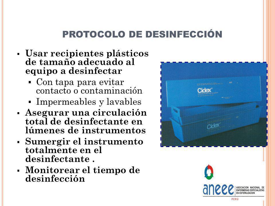 PROTOCOLO DE DESINFECCIÓN