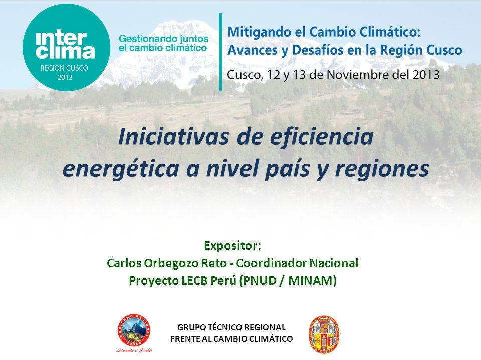 Iniciativas de eficiencia energética a nivel país y regiones