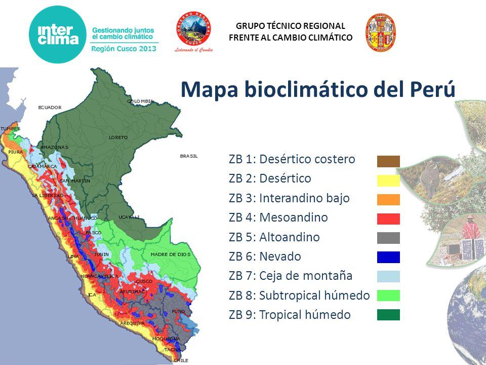 Mapa bioclimático del Perú