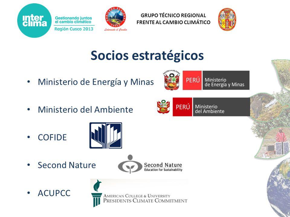 Socios estratégicos Ministerio de Energía y Minas